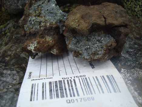 2015 rock sample: 23.9 g/t Au, 8.37 g/t Ag